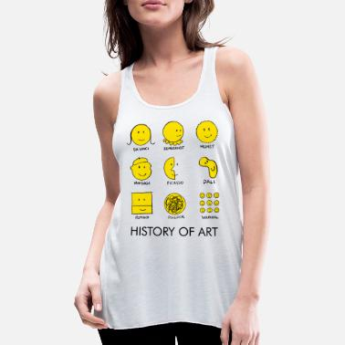 Graphic Art Face - Women's Flowy Tank Top