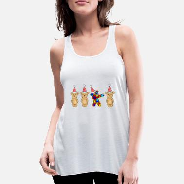 Autism Awareness Autism Dabbing Christmas Bears - Women's Tank Top by Bella