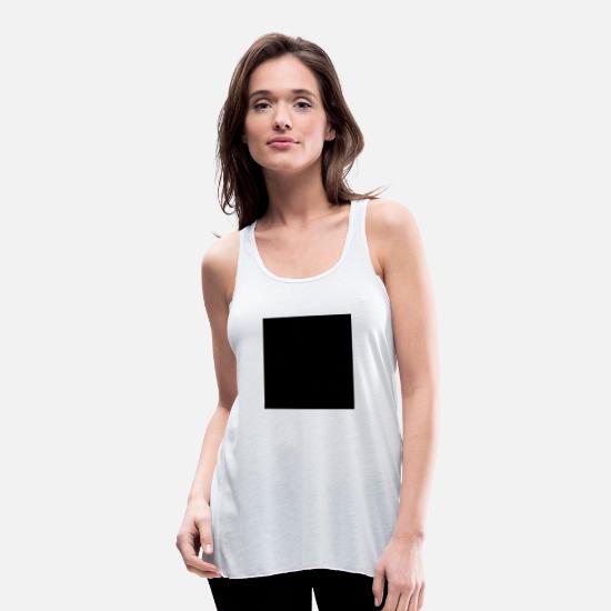Line Tank Tops - Square Rectangle - Women's Flowy Tank Top white