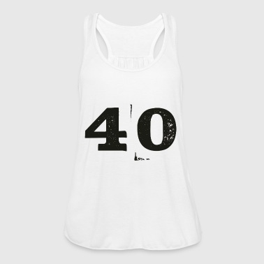 40th birthday number - Women's Tank Top by Bella