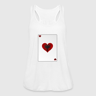Card Heart Ass Albania Heart - Women's Tank Top by Bella