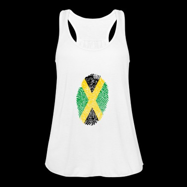 JAMAICA FINGERPRINT. RASTAFARI REGGAE RASTA - Women's Tank Top by Bella