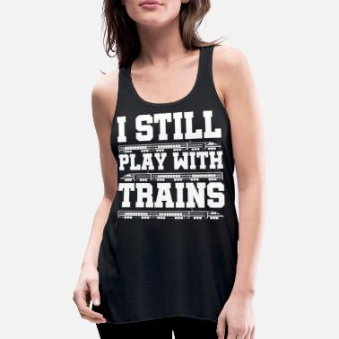 Training Train trains train steam locomotive - Women's Tank Top by Bella