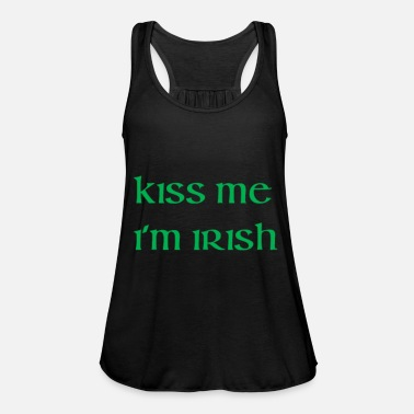 Kiss Me Im Irish Kiss Me Im Irish funny tshirt - Women's Tank Top by Bella