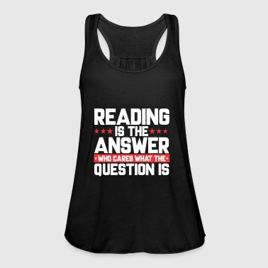 Read READ READING BOOKSHOP: READING IS THE ANSWER - Women's Tank Top by Bella