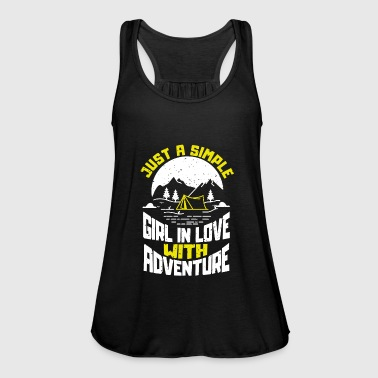Just a simple girl in love with adventure camping - Women's Tank Top by Bella