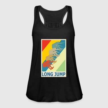 Retro Vintage Style Long Jump Wide Jump - Women's Tank Top by Bella