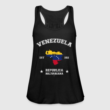 Venezuela vintage map with date of founding - Women's Tank Top by Bella