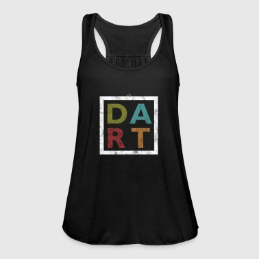 Bar Pub Distressed Dart Typography Bar Pub Tournament - Women's Tank Top by Bella