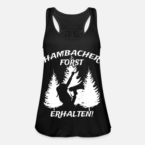 Voice Tank Tops - Hambacher Forst received! - Women's Flowy Tank Top black
