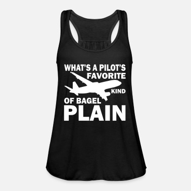 Model Airplane pilot gift I aviation aviator - Women's Flowy Tank Top