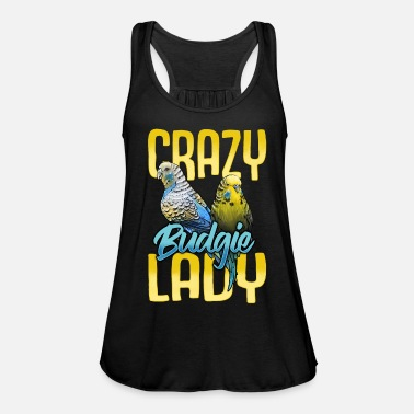 Wellensittich Lady - Frauen Flowy Tanktop