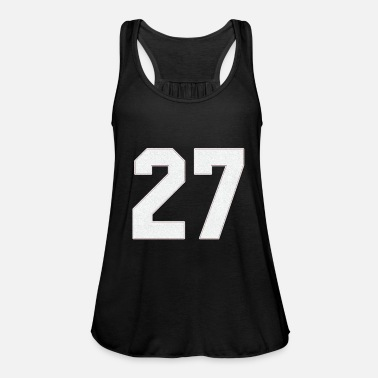 Jersey Number Baseball Sports jersey number / Jersey Number 27 - Women's Flowy Tank Top