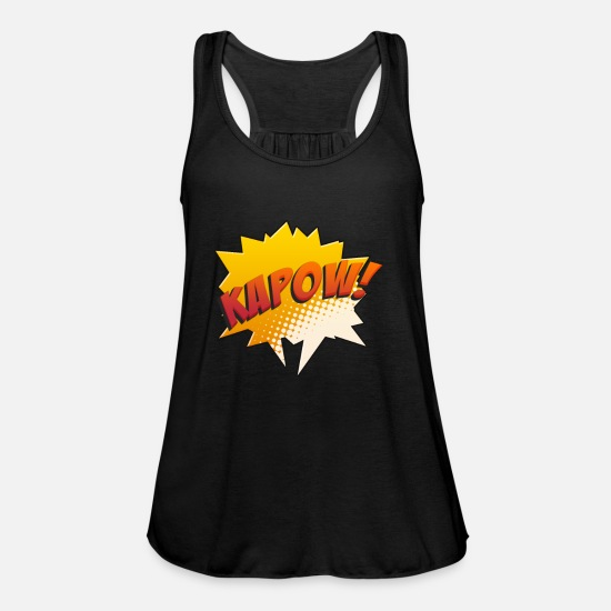Gift Idea Tank Tops - Comic Comicstyle Comic Book Comic Book Comic Hero - Women's Flowy Tank Top black