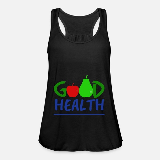 Red Tank Tops - Good Health with fruit - Good health with fruit - Women's Flowy Tank Top black