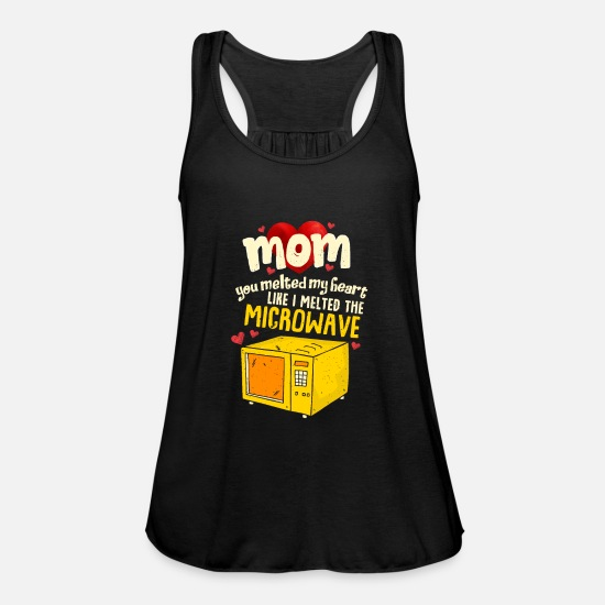 Mother Tank Tops - Perfect Mother's Day Gift Mom you melted my heart - Women's Flowy Tank Top black