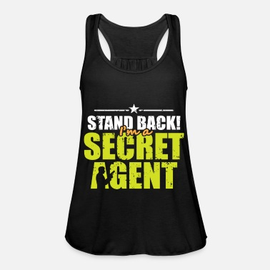 Spy Gift Secret Agent Policeman Secret - Women's Flowy Tank Top