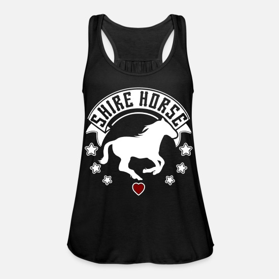 Vallak Tanktops - Horse Horse Breed Shire Horse Silhouette - Tanktop med racerback dame sort
