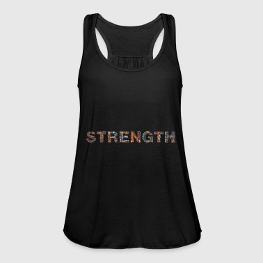 Strength! Strength written with word Unity - Women's Tank Top by Bella