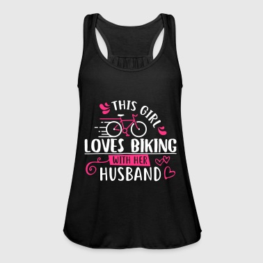 This Girl Loves Biking With Her Husband - Women's Tank Top by Bella