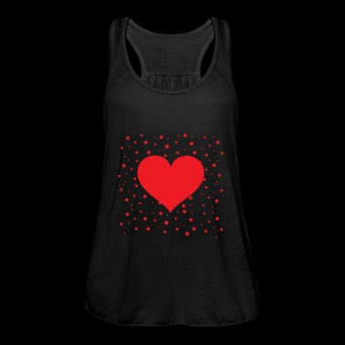 Red heart with little stars in the background - Women's Tank Top by Bella