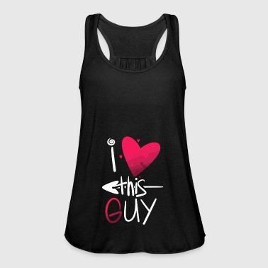 I Love this Guy - Couple Matching Apparel - Women's Tank Top by Bella