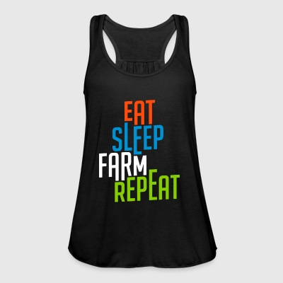 Eat Sleep Farm Repeat cool - Women's Tank Top by Bella