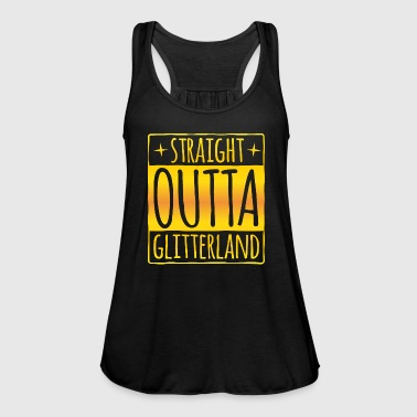 Straight outta - Glitter land goud - Vrouwen tank top van Bella