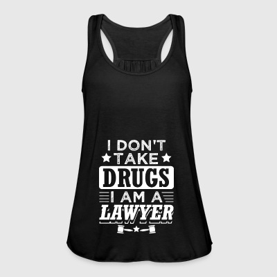 Funny Lawyer Attorney Shirt No Drugs - Women's Tank Top by Bella
