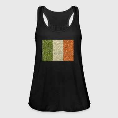 Ireland flag flag glitter irish homeland Éire - Women's Tank Top by Bella