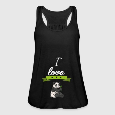 I love panda bear panda animal gift - Women's Tank Top by Bella