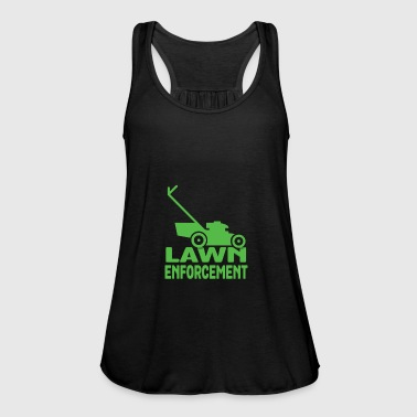 Lawn Enforcement T-Shirt - Funny Lawn Mower Garden - Women's Tank Top by Bella