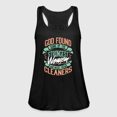 Cleaner cleaning lady cleaning job profession - Women's Tank Top by Bella