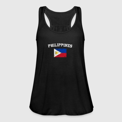 Filipino Flag Shirt - Vintage Philippines T-Shirt - Women's Tank Top by Bella