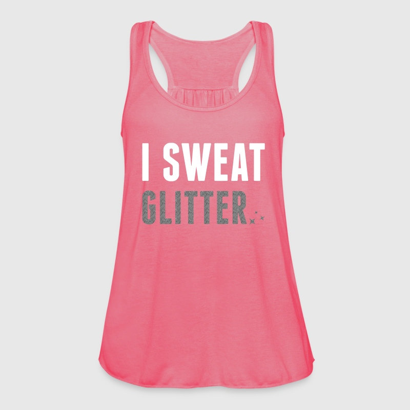 Girl Top mit Glitzer Print I SWEAT GLITTER - Frauen Tank Top von Bella