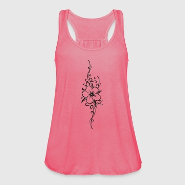 Ornament with big hibiscus flower, hibiscus - Women's Tank Top by Bella