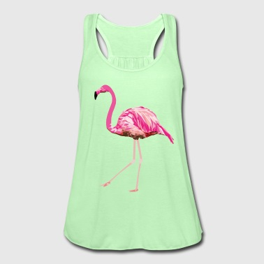 Flamingo pink pink bird summer water bird poly - Women's Tank Top by Bella