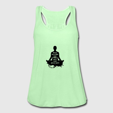 NAMASTE WOMAN BLACK - Women's Tank Top by Bella