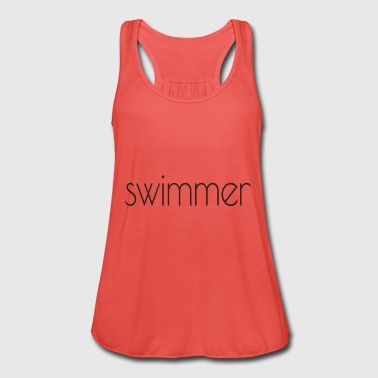 swimmer text - Women's Tank Top by Bella