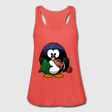 Penguin surfing lifeguard vacation water - Women's Tank Top by Bella