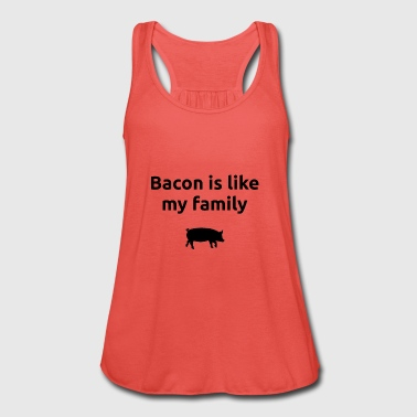 Bacon er som familien min bacon Ham - Singlet for kvinner fra Bella