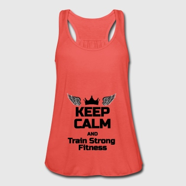 KEEP CALM Phrase For fitness lovers - Women's Tank Top by Bella