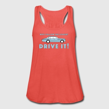 Vintage Plymouth Valiant slogan with car drawing - Women's Tank Top by Bella