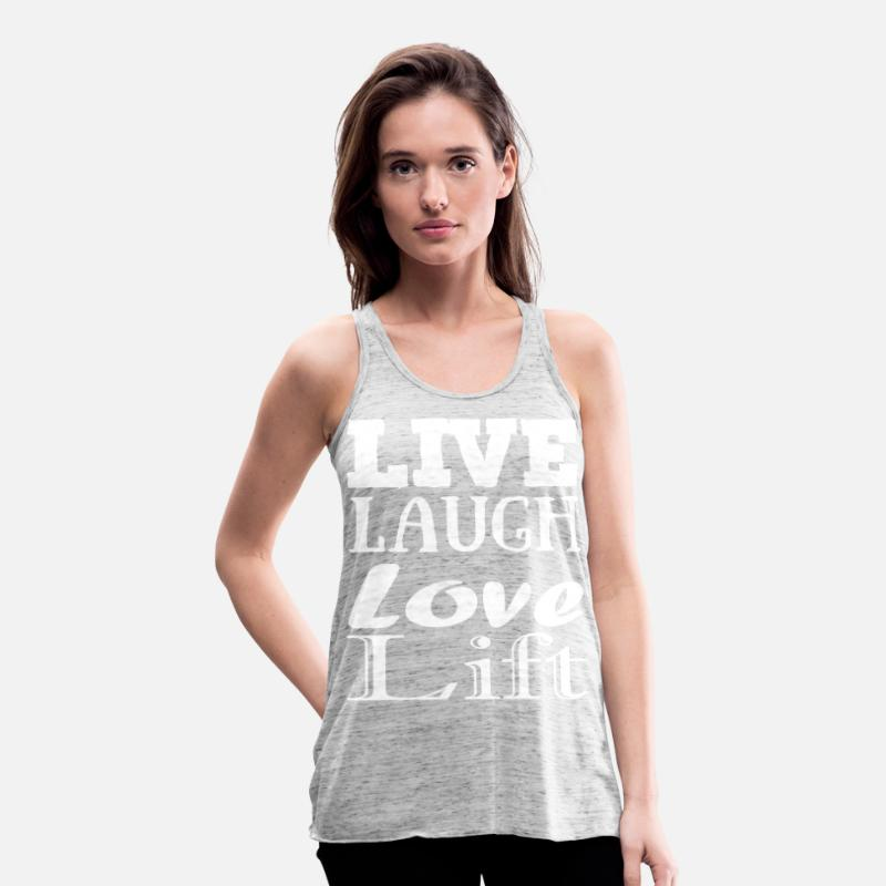 Bestsellers Q4 2018 Tank Tops - Live,laugh,love, lift - Women's Flowy Tank Top grey marble