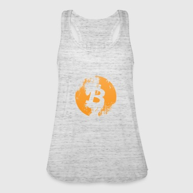 Bitcoin Coin Crypto-valuta (Distressed Look) - Vrouwen tank top van Bella