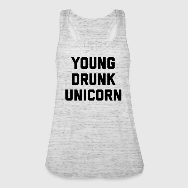 Young Drunk Unicorn Funny Quote - Vrouwen tank top van Bella