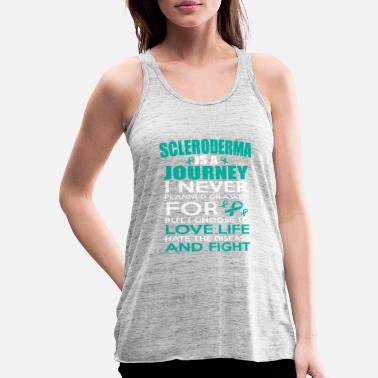 Autism Awareness A Journey I Fight! Scleroderma Awareness - Women's Tank Top by Bella