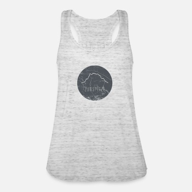 Zugspitze contour on wooden plate - Women's Tank Top by Bella