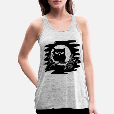 Ast OWL AST night Moon - Women's Flowy Tank Top