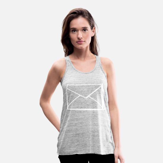 Important Tank Tops - Closed envelope - Women's Flowy Tank Top grey marble